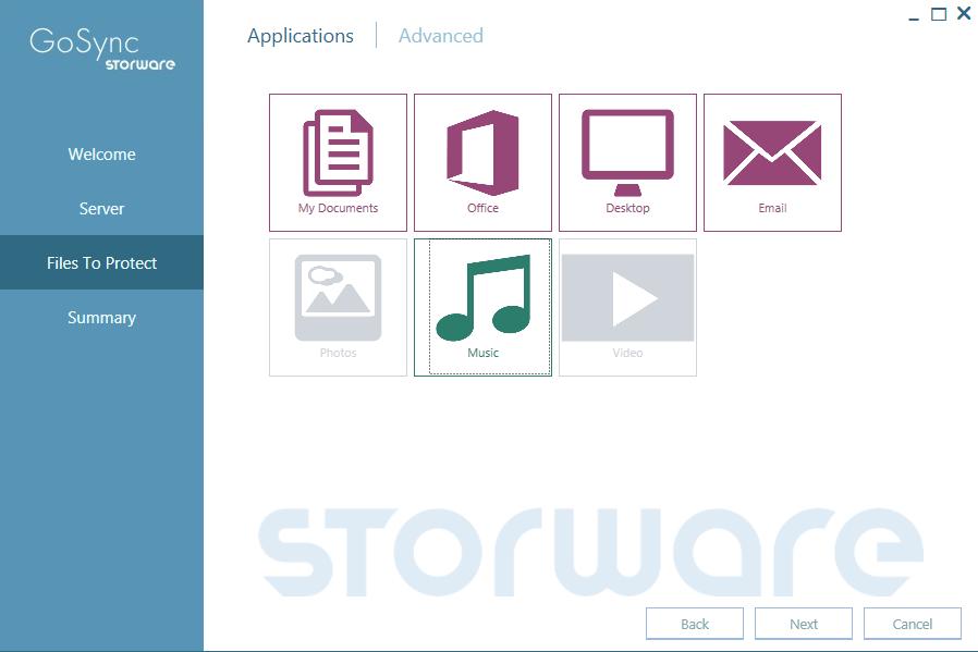 Storware configure Win klient